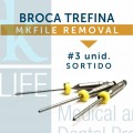 Broca Trefina MK File Removal c/ 3 unid.